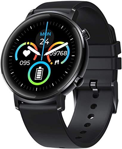 JSL Reloj inteligente para todo el día monitoreo de 1,3 pulgadas, cristal 2.5D + IPS color pantalla táctil pulsera 180 mAh multi modo deportivo oro negro