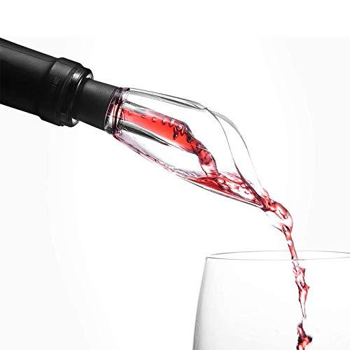 Rabbfay Vino Aireador Vertedor Y Mini Licorera Prima Aireación Caño - Regalo Bolsa Incluido por Diferente Tamaños De Vino Botellas, Fácil a Usar, Sencillo y Conveniente