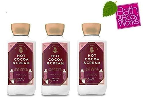 Bath and Body Works HOT COCOA & CREAM Value Pack- Lot of 3 Body Lotions - Full Size