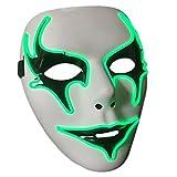 OUTGEEK Halloween-Maske leuchten volle Gesichts-Maskerade-Masken-Kerl Fawkes Maske für Halloween Cosplay Partei-Dekorationen (grün)