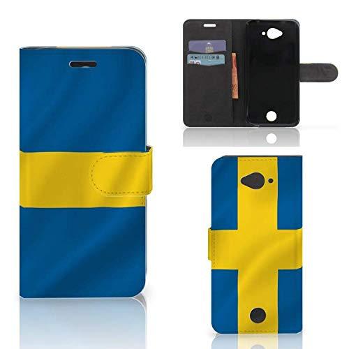 B2Ctelecom Kartenfach Tasche für Acer Liquid Z530 | Z530s Handyhüllen Schwedische Flagge