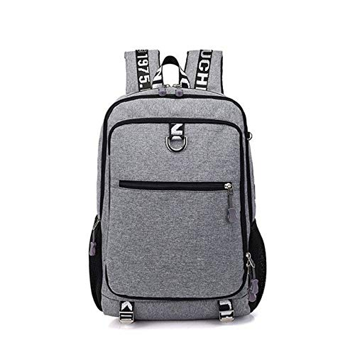 Best Deals! QGT Bags Men Fashion Multifunction Oxford Casual Laptop Backpackage School Waterproof Travel Bags, with USB Charging Port