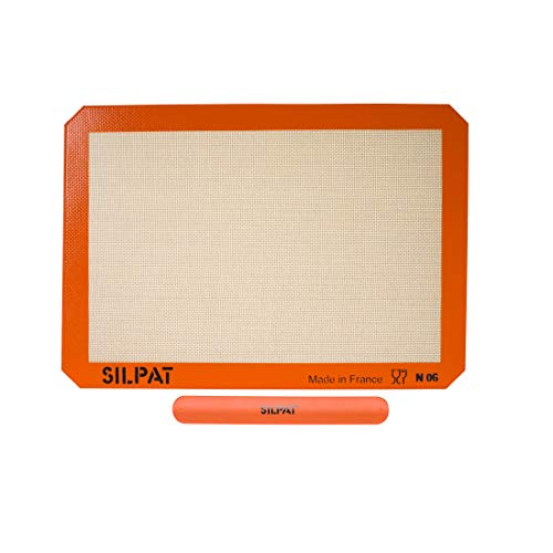 "Silpat Silicone Baking Mat with Storage Band, Half Sheet Size, 11-5/8"" x 16-1/2"""