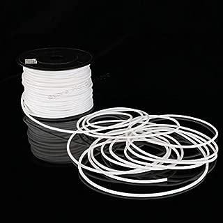 Plum Tube 1roll 0.5mm2 PVC 2mm 3mm ID White Handwriting Ferrule Printing Machine Number Plum Tube Cable Sleeve Blank Wire Marker (1.5mm2)