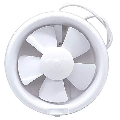 RJSODWL Ventilatore di Scarico dell'estrattore del Bagno Muto Impermeabile Ventilatore Forte per i ventilatori della Finestra della Toilette della Cucina