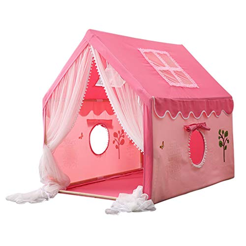 Kid Tent Kids Play Tent, Solid Wood Bracket, Indoor Boy and Girl Private Play House, Easy to Install, Christmas Birthday Gift, 100x126x120cm (Color : Style 4)