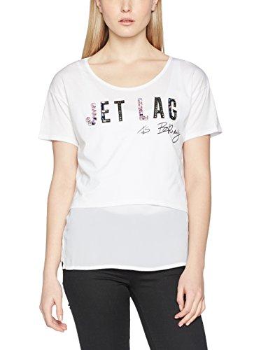 Guess T-Shirt Manica Corta Embellished Knit Bianco XL