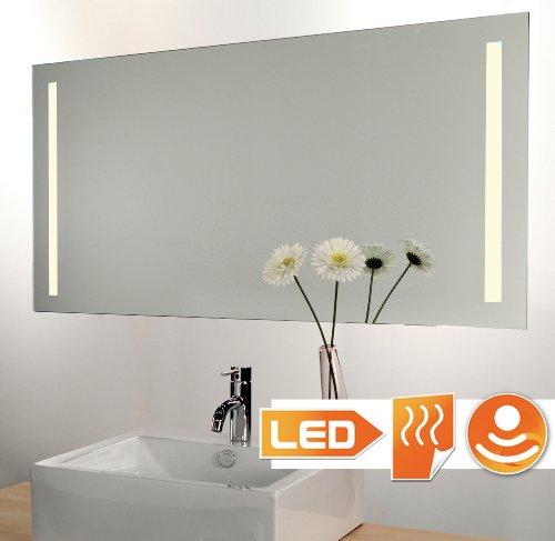 Badkamerspiegel LED verlicht (Hi-Power) met sensor dimmer schakelaar en verwarming 140x60 cm