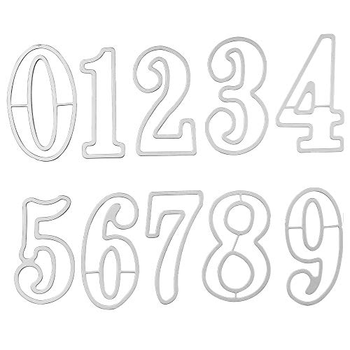 Ledoo Stanzschablonen Metall Stanzformen Zahlen Prägeschablonen Metall Stanzschablone für DIY Einladung-Karten,Scrapbooking Album,Papier Karten
