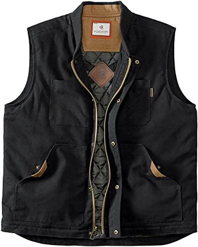 Legendary Whitetails Men's Standard Conceal and Carry Canvas Crosstrail Vest, Black, X-Large