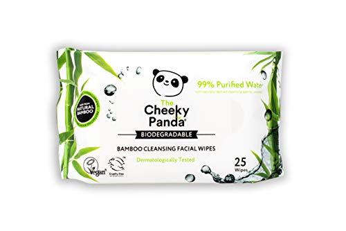 The Cheeky Panda Abschminktücher aus Bambus, Unparfümiert, 25 Feuchttücher je Packung, Biologisch Abbaubar, Super Sanft und Nachhaltig