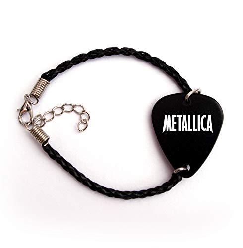 Metallica púa de guitarra púa joyas y accesorios BW, Pulsera de 19 cm.