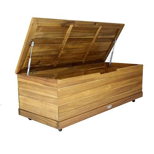 Charles Bentley FSC Acacia Outdoor Garden Storage Box H36xW46xL110cm