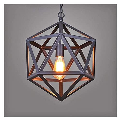 Rnwen Lámpara de Techo de Estilo Industrial de la Vendimia de Hierro Forjado Antiguo Restaurante lámpara de Dormitorio