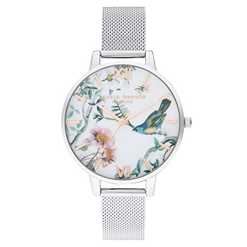 Olivia Burton Damen Analog Quarz Uhr mit Edelstahl Armband OB16EG147