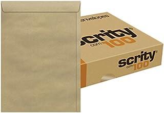 Envelope Meio A4 Saco Kraft Natural Pardo SKN323 162X229 Scrity 100 Unidades