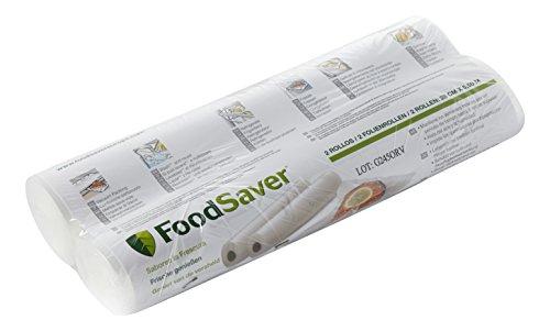 FoodSaver FSR2802-I Rouleaux de mise sous vide, pour machine sous vide Foodsaver, Pack de 2 (28cm x 5.5m chaque)