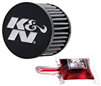 K&N ベントエアフィルター/ブリーザー: 高性能、プレミアム、洗浄可能、交換用エンジンフィルター: フランジ直径: 1.25インチ、フィルター高さ: 2.5インチ、フランジ長さ: 0.625インチ、形状: ブリーザー、62-1580。