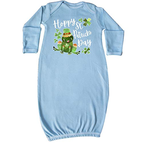inktastic Hoppy St. Patrick's Day Cute Frog Newborn Layette Light Blue 3a0a2
