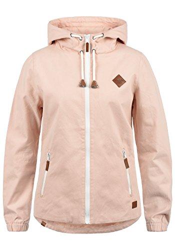 Blend SHE Bibi Damen Übergangsjacke Mantel Parka leichte Jacke mit Kapuze, Größe:L, Farbe:Cameo Rose (20262)