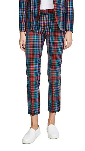 Paul Smith Women's Plaid Trousers, Red, 36