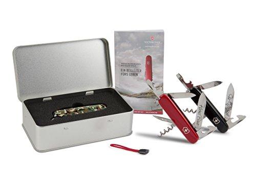 Victorinox Spartan Taschenmesser Geschenk-Box mit Wunschgravur (Rot)