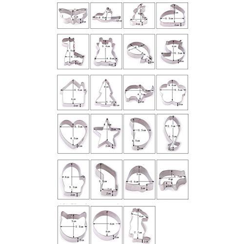 INEP Kuchenschneider, 23 3D Kuchenschneider pro Packung Schokoladenkekse Nettes Känguru/Kätzchen/Schweinchen/Fisch/Elefant/Weihnachtsbaum/Bärenform Metallformwerkzeug