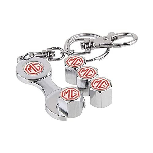 Shj_CN Coche Neumático Aluminio Tapas para válvulas con Logotipo 4 Piezas, para MG Sign for MG 3 5 6 7 TF ZR Morris 3 SUV