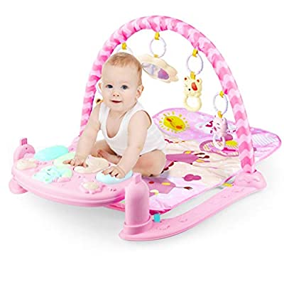 Amazon - Save 80%: MORECON 3 in 1 Baby Play Mat Activity Gym   Musical Kick and Play Newborn M…