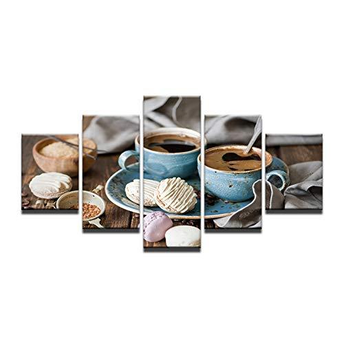 YDBDB koffie cake DIY schilderij modern huis kunst schilderij kits acryl handgeschilderde olieschilderij schilderij voor geschenk woonkamer poster ohne gerahmt 30 x 40 30 x 60 30 x 80 cm.