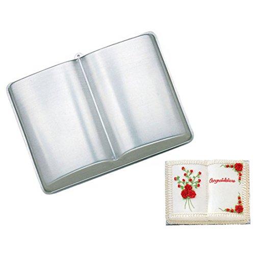 WJSYSHOP 10 Inch Book Shaped Aluminum 3D Cake Mold Baking Mould Tin Cake Pan