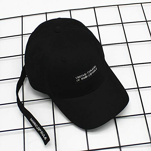 JXFM Hoed MINI letter stickers hip hop baseball cap mannen en vrouwen casual mode vizier cap