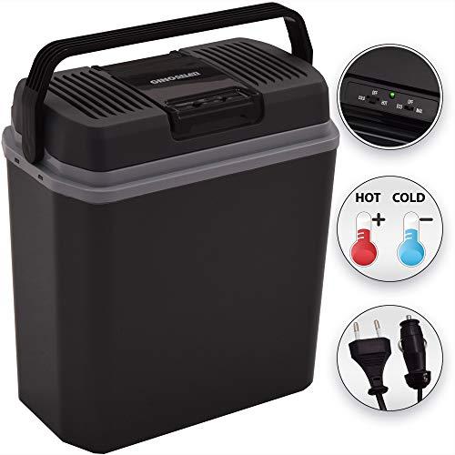 Gino Gelati Thermo-elektrische koelbox, 24 liter, 2-in-1 mini-koelkast, warmhoudbox, 12 en 220 volt, GG-24L-48W