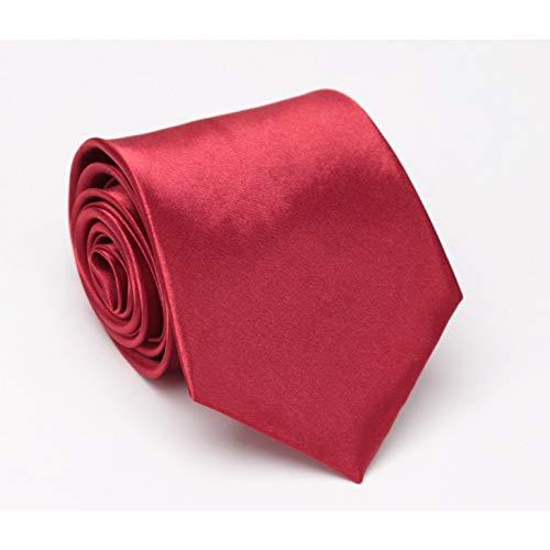 YUANID Männer Krawatte Solid Fashion Hochzeit Krawatten Für Männer Business Classic Herren Geschenke Krawatte Krawattenkleid Accessoires Mann Schwarz Rot Blau Krawatte