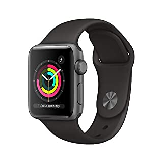 Apple Watch Series 3 (GPS, 38mm) - Space Grey Aluminum Case with Black Sport Band (B07JD7LNYV) | Amazon price tracker / tracking, Amazon price history charts, Amazon price watches, Amazon price drop alerts