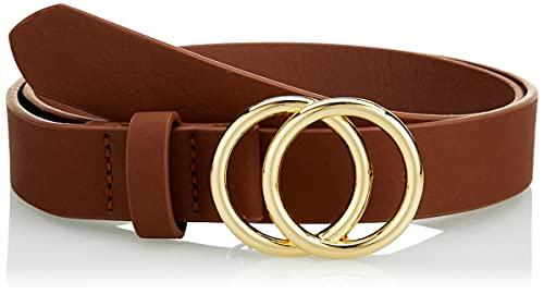 Only ONLRASMI Faux Leather Jeans Belt Noos Cinturón, coñac/Detalles: Hebilla Dorada, 80 para Mujer