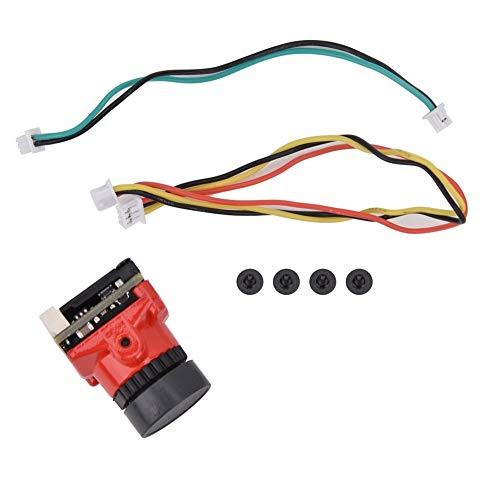dgtrhted 1200TVL CMOS 2.1mm PAL/NTSC Umschaltbare F-P-V-Kamera Fit for HGLRC V2 (rot)