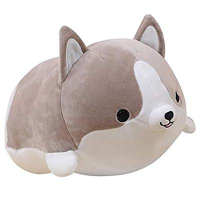 sofipal Corgi Dog Plush Pillow, Cute Shiba Inu Corgi Butt Stuffed Animal Toys Gifts for Bed, Valentine, Kids Birthday, Christmas (Gray, 17.3inch)