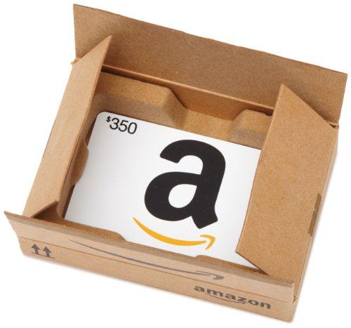 Amazon.com $350 Gift Card in a Mini Amazon Shipping Box (Classic White Card Design)
