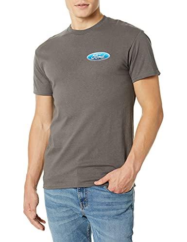 Buck Wear Men's Ford - Don't Tread Cotton T-Shirt, Charcoal, 2X