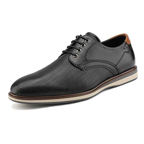 Bruno Marc Men's Dress Oxford Sneakers Shoes Black Size 8.5 M US Lg19009m
