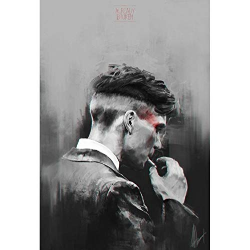 marialydia British High Score Crime Drama Peaky Blinders Poster Hight Quality Canvas Painting Home Decor Wall Art Duvar Tablolar A1 40X50Cm Sin Marco