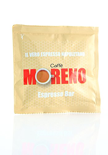 150 Cialde Caffe MORENO Espresso Bar Carta ESE 44MM Vero Caffè Espresso Napoletano