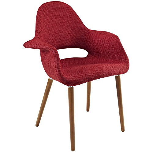 Modway Aegis Upholstered Dining Armchair, Red