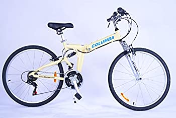 Columba 26 Inch Alloy Folding Bike w 18 Speed Cream  RJ26A_CRM