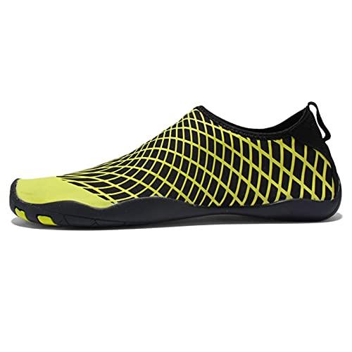 SHENGWEI Zapatos de natación unisex para buceo, esnórquel, de secado rápido, para piscina, rafting, wading, playa suave, agua antideslizante, zapatos de playa (color verde fluorescente, tamaño: 39)