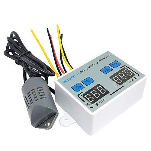 Fltaheroo XK-W1099 Doble Termostato Digital Humidistato Huevo Incubadora Temperatura Humedad Controlador Regulador TermóMetro HigróMetro 110V-220V