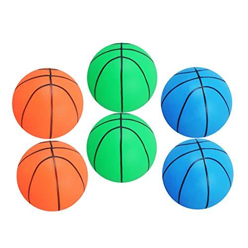 F Fityle 6 Pelotas de Baloncesto Inflables de 6 Pulgadas, Pelotas de Playa para Fiestas de Cumpleaños Deportivas, Playa