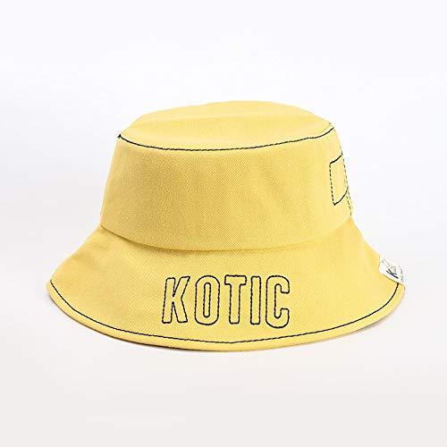 Sombrero para niños otoño algodón Puro versión Coreana de la Tendencia Sombrero de bebé con Letras de Tapa Plana vibrato Hip-Hop Hip-Hop Sombrero de Pescador
