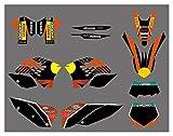 Zhbqcmou Kit de Etiqueta de la calcomanía de la calcomanía de la calcomanía para KTM 125 144 150 200 250 300 400 450 505 530 SX SXF EXC EXCR XC XCF XCW XCFW XCRW SMR hnzhb